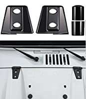 Opar Black Hood Hinge Cover for 2007 - 2018 Jeep JK Wrangler & Unlimited - Pack of 2