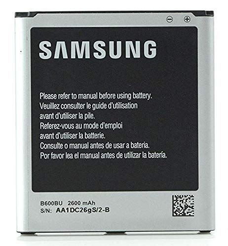 Silver Discontinued by Manufacturer Samsung Original Genuine OEM Spare 2600 mAh Replacement Battery for Samsung Galaxy S4 Non-Retail Packaging