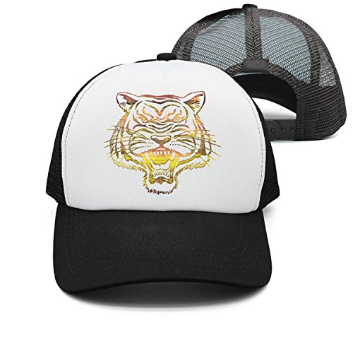 Flaming Tiger, Tiger Made of Fire casualFlaming Tiger Tiger Mens/Women's mesh Trucker Hat