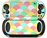 Brushed Cirlces Multi Light - Decal Style Skin fits Sony PS Vita