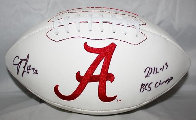 C. J. Mosley Autographed Alabama Crimson Tide Logo Football W/ BCS ...