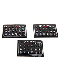 Dovewill 12 Pairs Fashionable No Piercing Double Sided Ear Stud Magnetic Earrings Women Girls Jewelry Mixed Colors