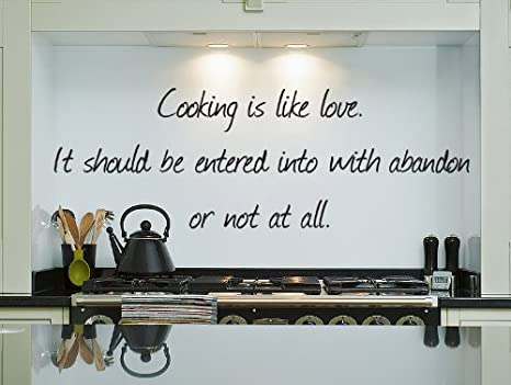 Amazon.com: Cooking Wall Quote Decal, Vinyl Sticker, Words for ...