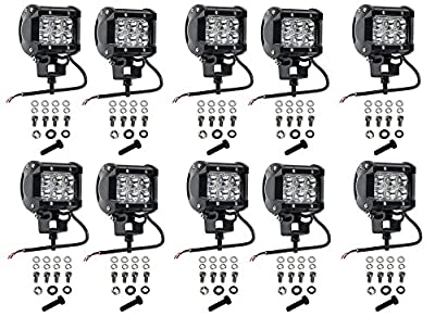 Cutequeen 18w,27w,48w,54w,72w,90w,108w,126w,144w,10v-30v DC 6000-6500 LED spot light FOR Tractor Marine off-road lighting RV ATV(pack of 1) from Jianxin