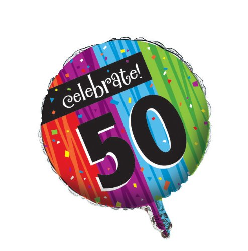 Creative Converting Party Decoration Round Metallic Balloon, Milestone Celebrations (Quick Creative Halloween Costumes For Adults)
