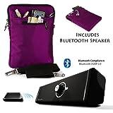 Hydei Travel Nylon Padded Sleeve For Samsung Galaxy Note Pro 12.2 + Bluetooth Speaker
