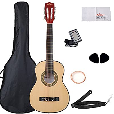 Beginner Guitar 30 Inch For Kids Student Nylon Strings with Carrying Bag & Accessories
