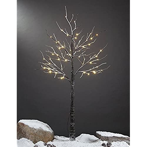 Lighted Outdoor Trees Outdoor lighted christmas trees amazon lightshare 5 feet snow dusted tree 72 led lights warm white for christmas tree and christmas village decoration decoration idea for home festival workwithnaturefo