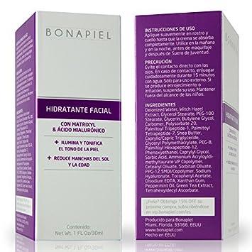 Hidratante Facial Con Matrixyl 3000, Vitamina C & Acido Hialurónico - Preveniene, Reduce Arrugas