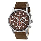 Wenger Men's 01.1243.102 Commando Chrono Analog Display Swiss Quartz Brown Watch