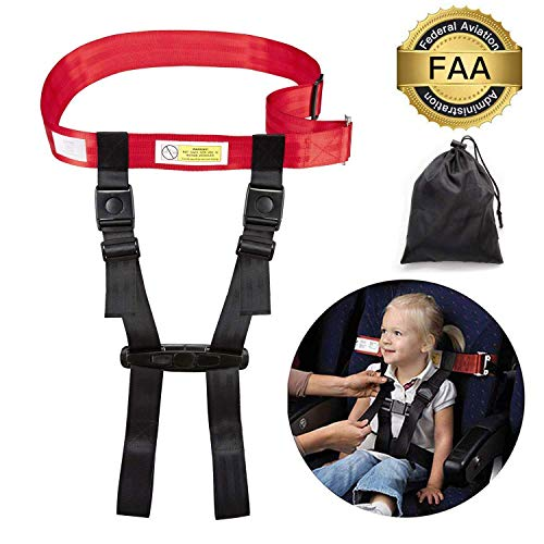 Child Airplane Travel Harness by YSTY, Aircraft Safety Travel Clip Strap, Seat Belt, Baby, Kids and Toddlers Restraint System with Pouch Bag- Strictly for Aviation Travel Only, FAA Approved