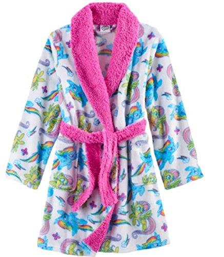 My Little Pony Movie Bathrobe for Toddler Girls Fleece Faux Fur Robe (Childrens Bathrobes)