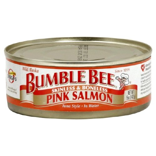 Bumble Wild Alaska Bee Pink Salmon Skinless and Boneless 5 Oz (Pack of 12)