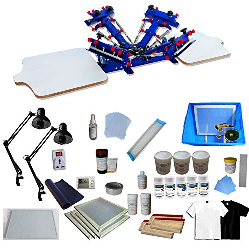 INTBUYING 4 Color 2 Station Screen Printing Kit Press for sale  Delivered anywhere in USA