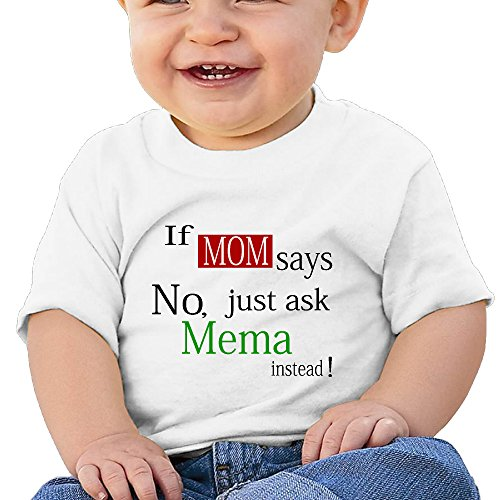 If Mom Customized Graphic Baby O-neck T-Shirt Cotton]()
