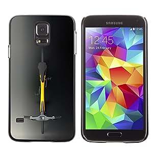 Be Good Phone Accessory // Dura Cáscara cubierta Protectora Caso Carcasa Funda de Protección para Samsung Galaxy S5 SM-G900 // Minimalist Hipster Bicycle