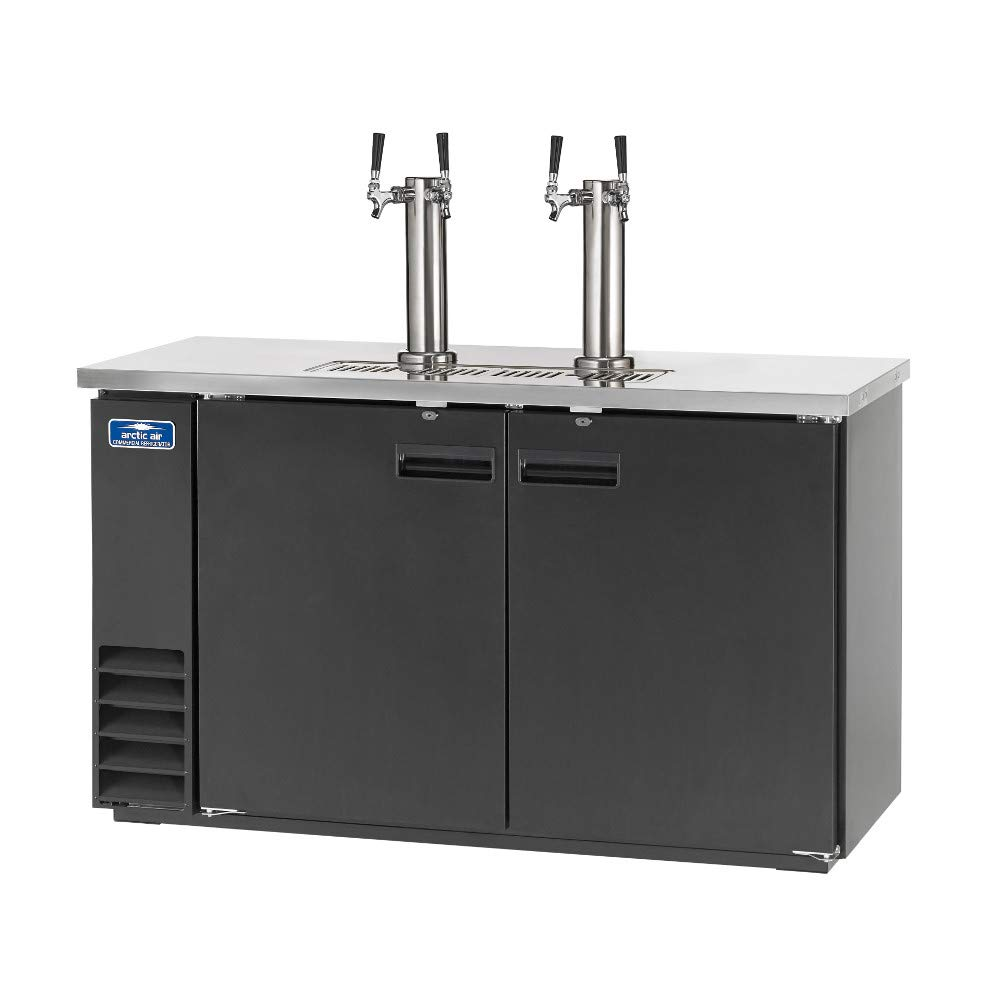 Arctic Air ADD60R-2 61-Inch Double-Tap Direct Draw Draft Beer Cooler/Dispenser/Kegerator, Black, 115v