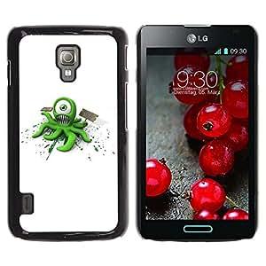 LECELL -- Funda protectora / Cubierta / Piel For LG Optimus L7 II P710 / L7X P714 -- Funny Alien Monster --