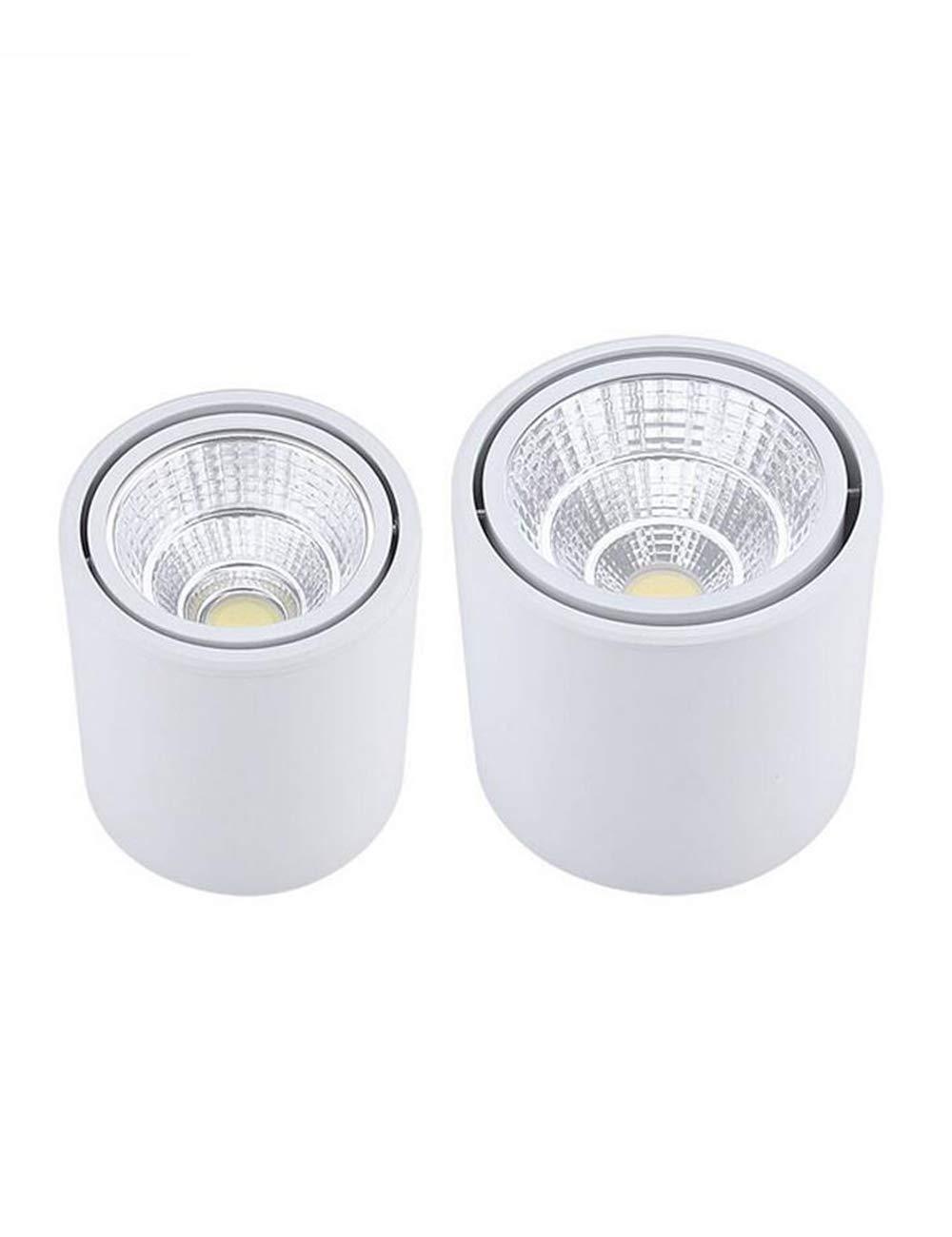 SPDYCESS Mini focos ajustable,220V Concha de aluminio,7W 12W 15W, Clase de eficiencia energ/ética A+ 2 X Foco LED para techo Focos montados en superficie LED Focos de techo