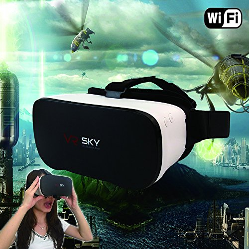 3D VR Headset, DMYCO VR All in One Headset 3D Glasses Virtual Reality Headset WIFI Support Android 4.4 Octa-Core 2G/16G for Movies Games 3D Video Glasses (Phone No Needed, Halloween Christmas Gifts)