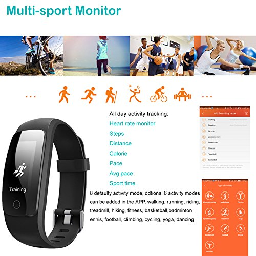Fitness Tracker,Willful SW331 Waterproof Activity Tracker Fitness Watch with Heart Rate Monitor Multiple Sports Modes Sleep Monitor Step Calorie Counter for iPhone Android iOS