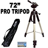 """Professional PRO 72"""" Super Strong Tripod With Deluxe Soft Tripod Carrying Case For The Nikon D3200 Digital SLR Camera"""
