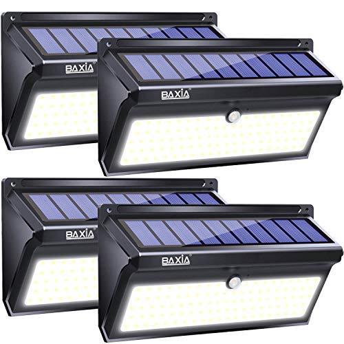 【大特価!!】 BAXIA Garden TECHNOLOGY Solar Door, Lights Outdoor, Wireless Garage, 100 LED Solar Motion Sensor Lights Waterproof Security Wall Lighting Outside for Front Door, Backyard, Steps, Garage, Garden (2000LM, 4PACK) [並行輸入品] B07R5JCN5Y, キューブBOX:b2c0e359 --- dou13magadan.ru