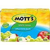 Mott's 100% Apple White Grape Juice, 6.75 fl oz boxes, 8 count (Pack of 4)
