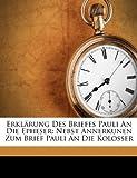 Erklärung des Briefes Pauli an Die Epheser, Johann Tobias Beck and Julius Lindenmeyer, 1246568519