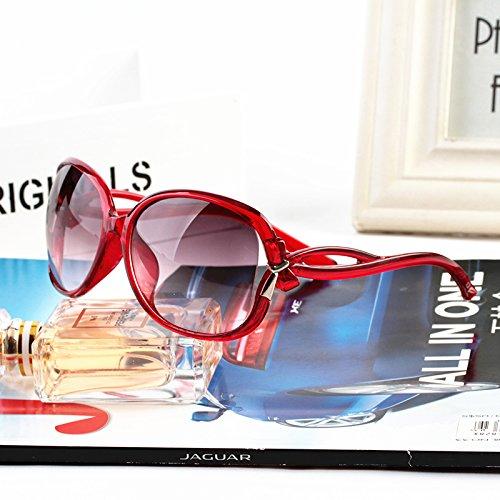star des lunettes des lunettes de soleil les lunettes de soleil courant nouvelle série de couleur des yeux le visage rond korean rétro Red (cloth)