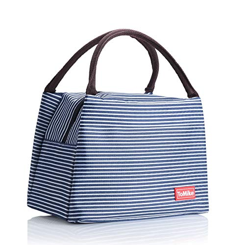 - Lunch Bags for Women Insulated Lunch Box Lunch Boxes for Kids Lunch Tote Cooler Bag Great Gifts For Women ToMike (Navy Blue)