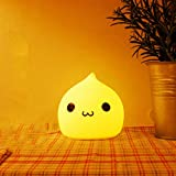 KathShop Lovely Silicone Water Drop Night Light Color Changing Touch Sensor Battery Power Lamp 9.59.59.6CM