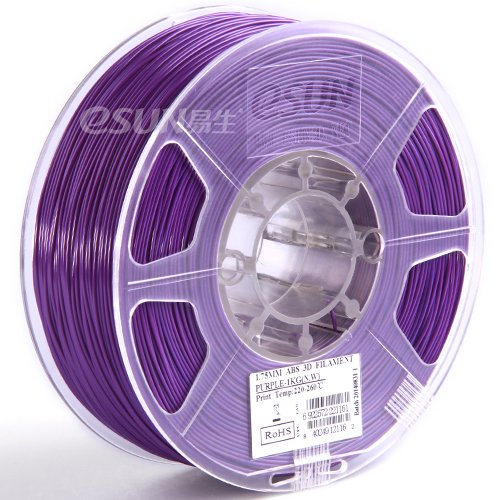 1KG 2.2lb Purple eSUN 1.75mm ABS+ Purple Filament 1KG Spool for 3D Printers