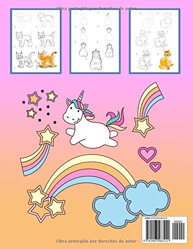 Dibujo De Unicornios Y Gatos: Aprende a dibujar para niños a partir de 5 años y adultos, 108 páginas, A4 (Spanish Edition): Maria Feérico: 9781093483222: ...