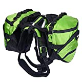 Pettom Dog Saddle Backpack 2 in 1 Saddblebag&Vest Harness with...