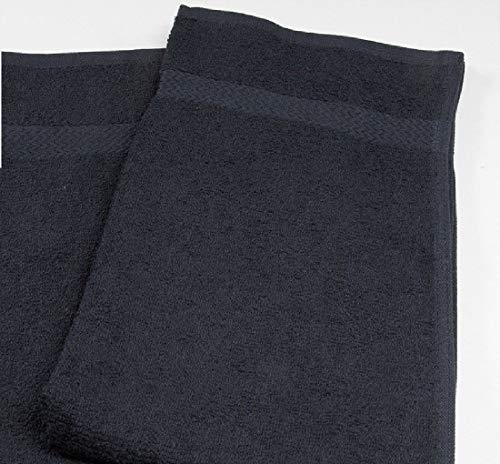 12 NEW BLACK 16X27 SALON HAND TOWELS HAIR TOWELS HAIR CUTTING CLEANING TOWELS 2#