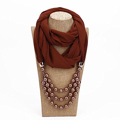 すりポーチセラーDuRone - シミュレートされた真珠のネックレスPendnat女性のシルクスカーフジュエリー装飾ファッション春民族パールジュエリーギフト
