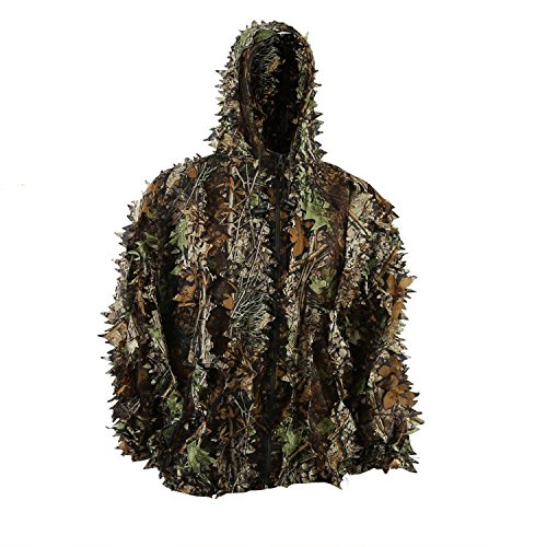 Review LYGLO Mens 3D Lightweight Hooded Camouflage Ghillie Breathable Hunting Suit