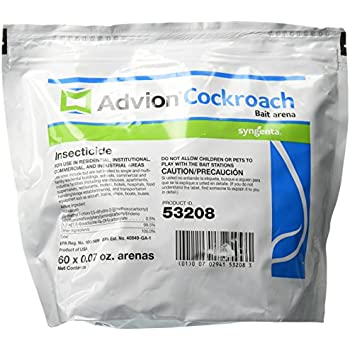 a1ae303d76b0 Syngenta A20378A Advion Cockroach Bait Arena Insecticide, 60 ct Bag