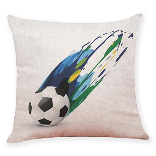 Sameno World Cup Football Soccer Soft Pillow Covers Set for Bedroom, Living Room, Couch Set of 9 (D)