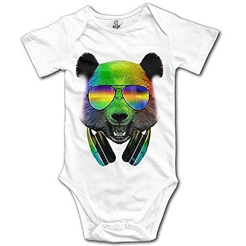 Nursling Dj Panda Unisex Baby Clothes SHORT SLEEVES Baby Onesie