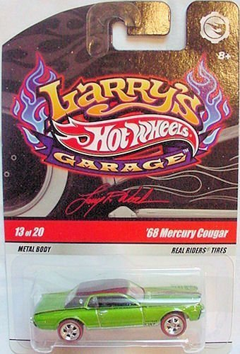 2009 Hemi Cuda - Hot Wheels 2009 Larry's Garage #13/20 '68 Mercury Cougar with Real Riders Tires Collectible Car