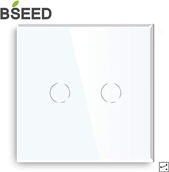 Serienschalter Glas Touch Wechselschalter in Weiß