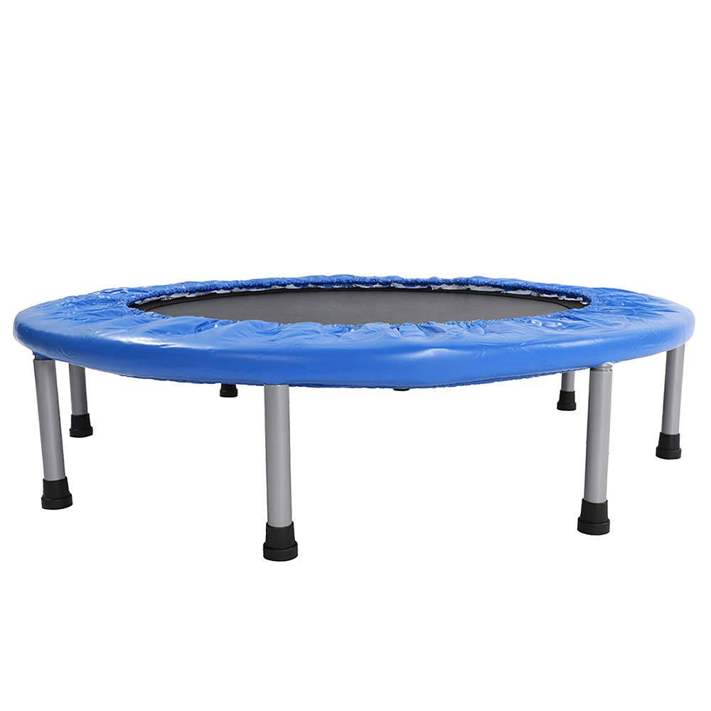 NewMultis 38'' Mini Trampoline Band Safe Elastic Exercise Workout with Padding Springs Blue
