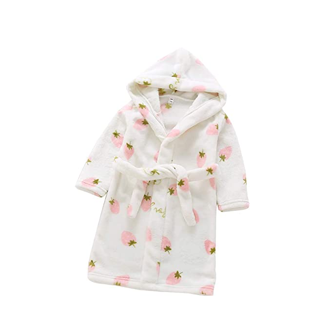 Amazon.com: Kids Bathrobe Girls robe Boys Dressing Gown Pyjama Fleece Cute print Sleepwear Soft Loungewear Nightwear Hooded 4-12Years: Clothing