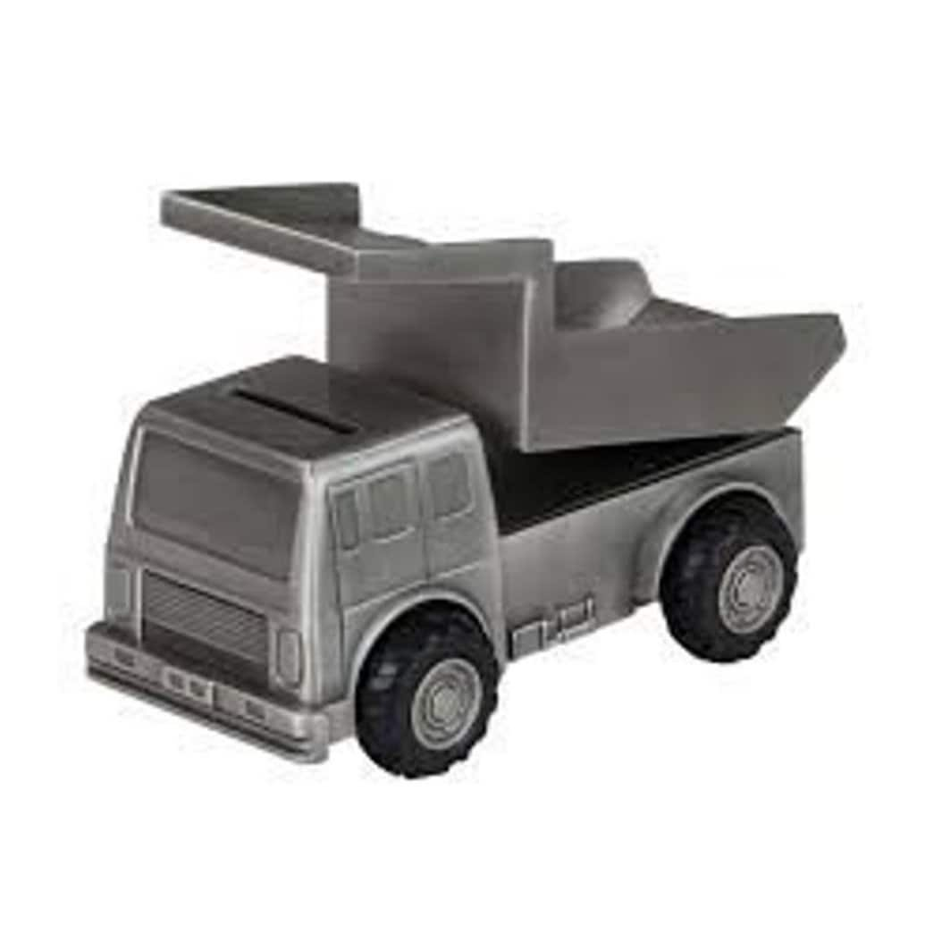 Elegance 88620 Pewter Plated Mining Truck Bank Leeber