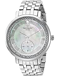 kate spade new york Womens KSW1292 Monterey Analog Display Japanese Quartz Silver Watch