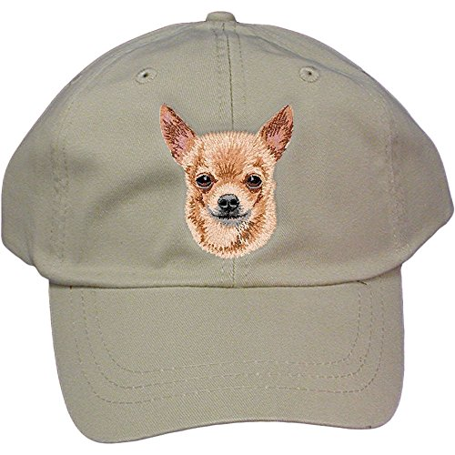 - Cherrybrook Dog Breed Embroidered Adams Cotton Twill Caps - Stone - Chihuahua