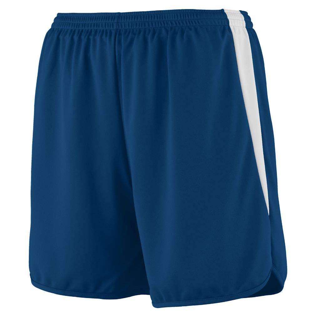 Augusta Sportswear Augusta Youth Rapidpace Track Short, Navy/White, Small by Augusta Sportswear