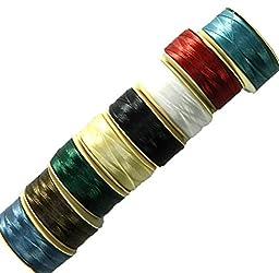 Nymo® Nylon Seed Bead Thread Size B (8 Bobins 144 Yards Each) 0.008 Inch 0.203mm Spool 390 Yards Mixed Colors